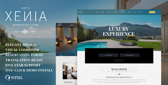 Hotel XΕΝΙΑ  - Resort & Booking WordPress Theme