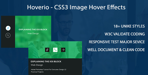Hoverio - CSS3 Image Hover Effects