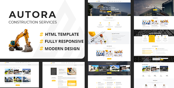 Autora - Construction Business HTML Template