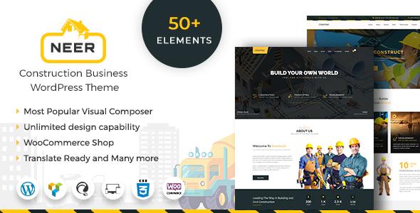 Neer - Construction Business WordPress Theme