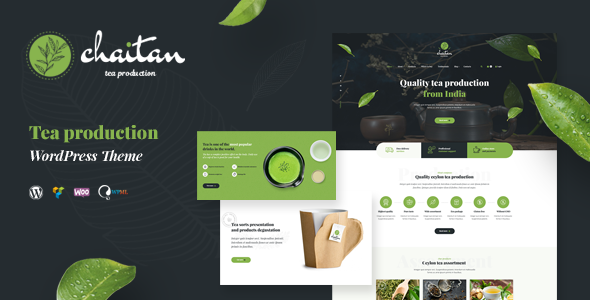 Chaitan - Tea Production Company & Organic Store WordPress Theme