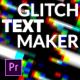 Glitch Text Maker for Premiere Pro - VideoHive Item for Sale