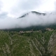Mountains in Clouds at Llogara Pass, Albania - VideoHive Item for Sale