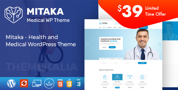 Mitaka - Medical WordPress Theme