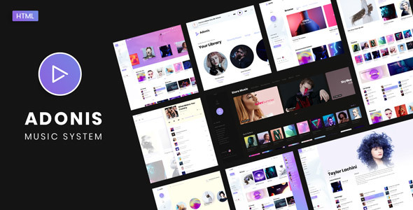 Adonis | Music System Template