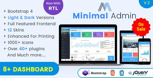 Minimal - Responsive Bootstrap 4 Admin Dashboard & WebApp Templates