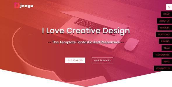 Django - One Page HTML5 Website Template