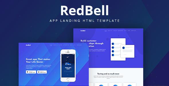 RedBell - Bootstrap 4 App Landing Template