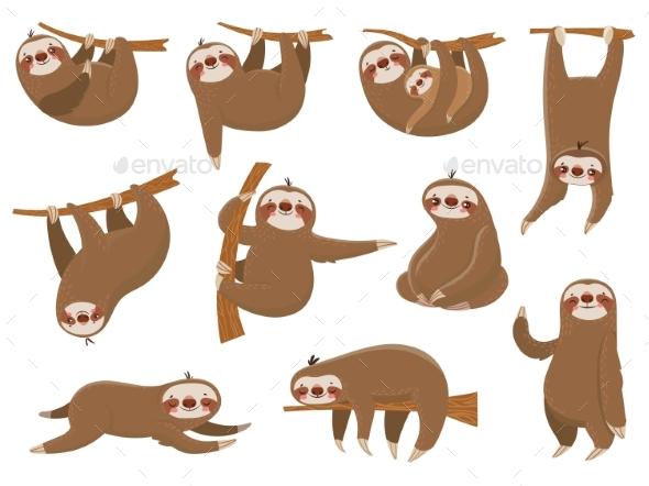 Cartoon Sloths