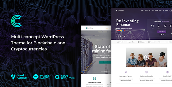 Cryptonite - Blockchain and Cryptocurrencies WordPress Theme