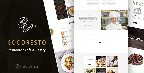 GoodResto - Restaurant WordPress Theme + Woocommerce