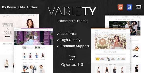 Variety - Multipurpose OpenCart 3 Theme