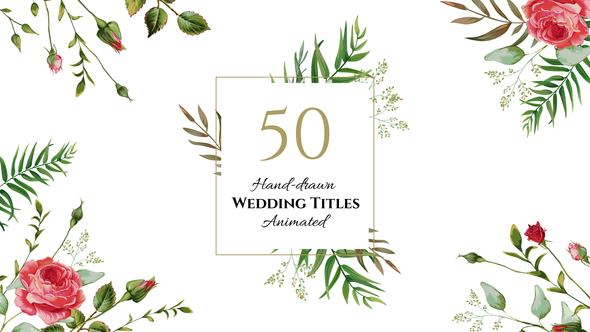 Floral Wedding Titles