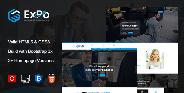 Expo - Finance, Business & Consulting HTML Template