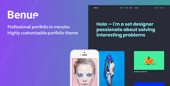 Benue - Creative Portfolio WordPress Theme