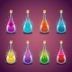 Set with Different Luminous Magic Elixirs - GraphicRiver Item for Sale