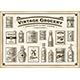 Vintage Grocery Set One Color - GraphicRiver Item for Sale