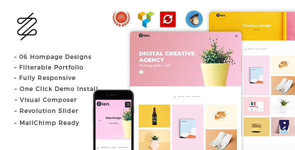 Zien - Portfolio WordPress Theme