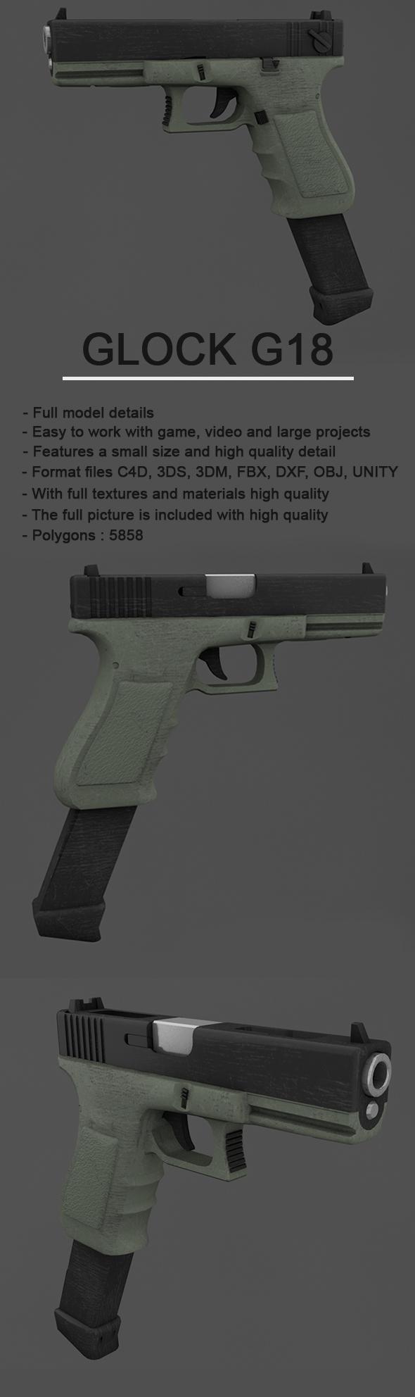 Glock CG Textures & 3D Models from 3DOcean