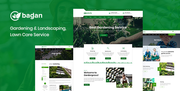 Bagan - Lawn & Garden Landscaping HTML Template