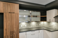 Contemporary kitchen cabinet ensemble with different colors and textures - PhotoDune Item for Sale