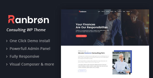Ranbron - Business and Consulting WordPress Theme