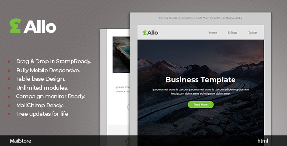 Allo - Responsive Email template with Stampready Builder
