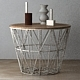 Wire Baskets & Side Tables by Ferm Living - Light grey - 3DOcean Item for Sale