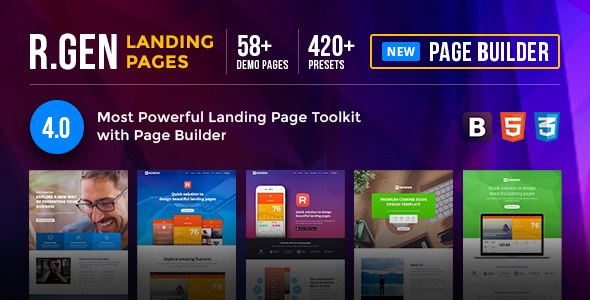 HTML Landing Pages with Builder