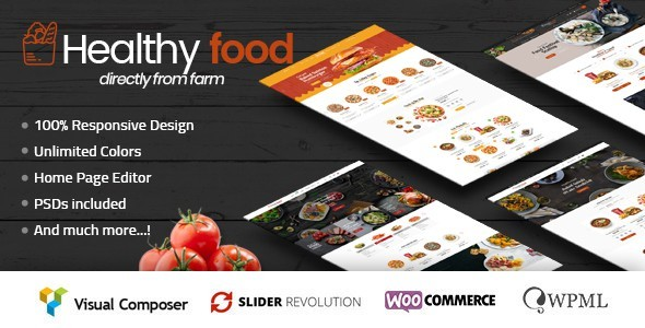 HealthyFood - Multipurpose WooCommerce Theme (RTL Supported)