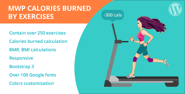MWP Calories Burned By Exercises Calculator