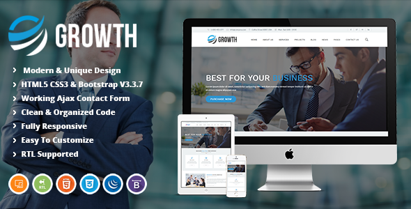 Growth | Business Finance and Corporate HTML Template