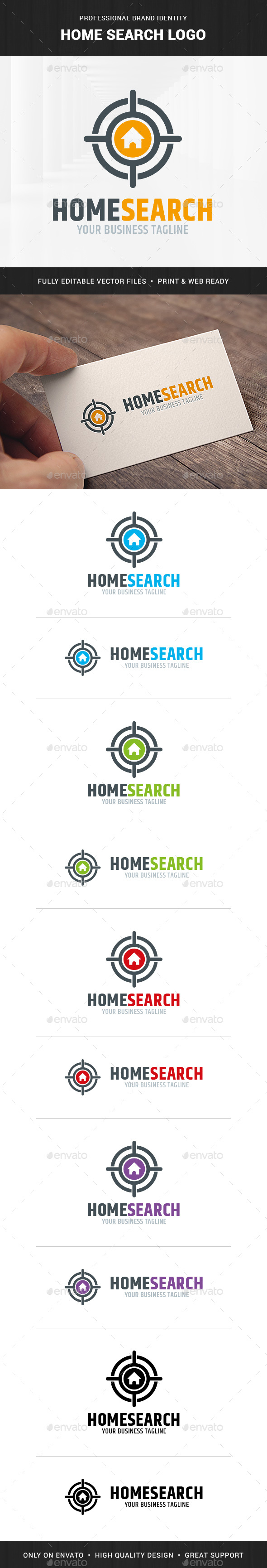 Home Search Logo Template
