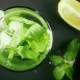 A Glass with Ice and Mint Pour Water - VideoHive Item for Sale