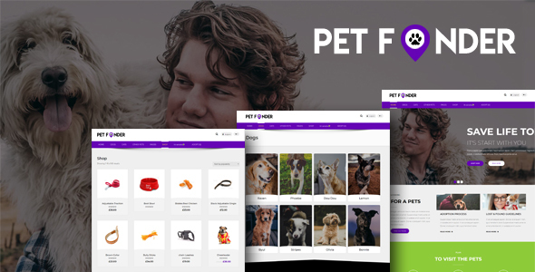 Petfinder - Pet Adoption WordPress  CMS Theme