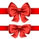 Red Bows with Horizontal Ribbons - GraphicRiver Item for Sale