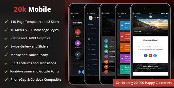 20k Mobile | PhoneGap & Cordova Mobile App