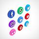 Social Media Icon Set 01 - 3DOcean Item for Sale