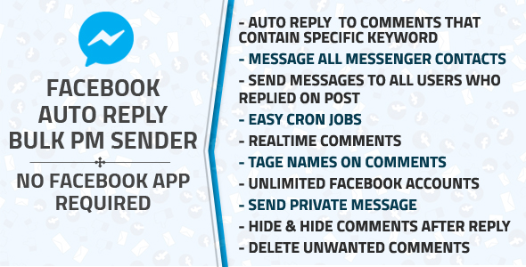 Facebook Auto Reply & Bulk Private Message Sender