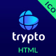 Trypto ICO and Cryptocurrency Landing Page HTML Template - ThemeForest Item for Sale