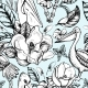 Vector Monohrome Tropical Floral Seamless Pattern - GraphicRiver Item for Sale