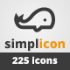 225 Minimalistic Vector Icons - GraphicRiver Item for Sale