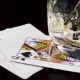 Strong Alcoholic Drink Pour Into a Glass and Playing Cards - VideoHive Item for Sale