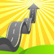 Arrow Road to Sky - GraphicRiver Item for Sale
