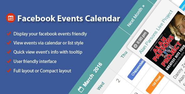 Facebook Events Calendar For WordPress Download
