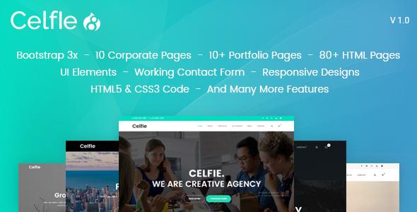Celfie - Bootstrap 3x Multi-Purpose Drupal 8.7 Theme