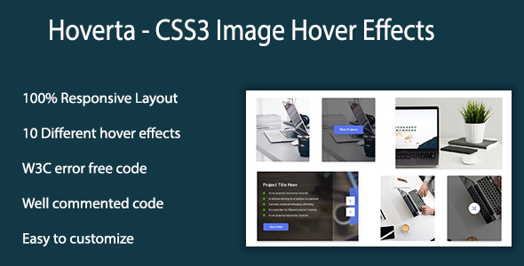 Hoverta - CSS3 Image Hover Effects