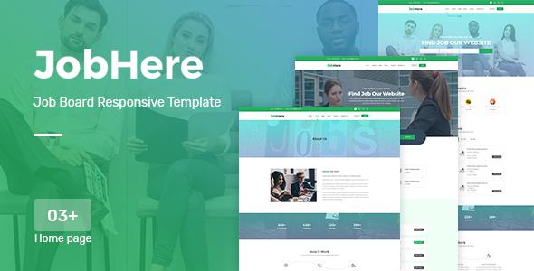 JobHere - Job Board Responsive HTML Template