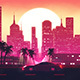 Outrun Retrowave City Skyline VJ Loop - VideoHive Item for Sale