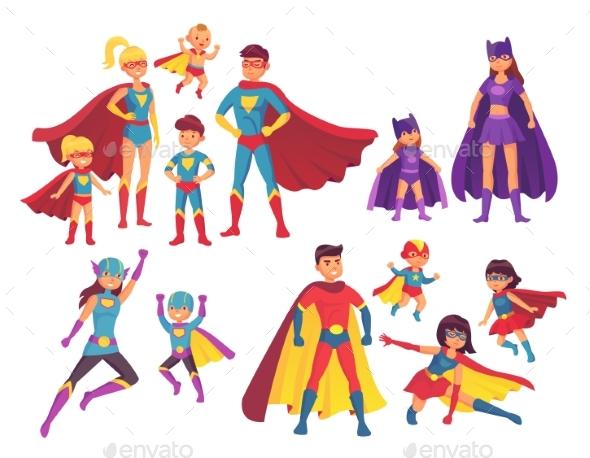 Superhero Family Characters